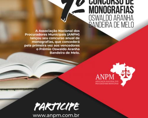 ANPM prorroga inscrições para 1º Concurso de Monografias Oswaldo Aranha Bandeira de Melo