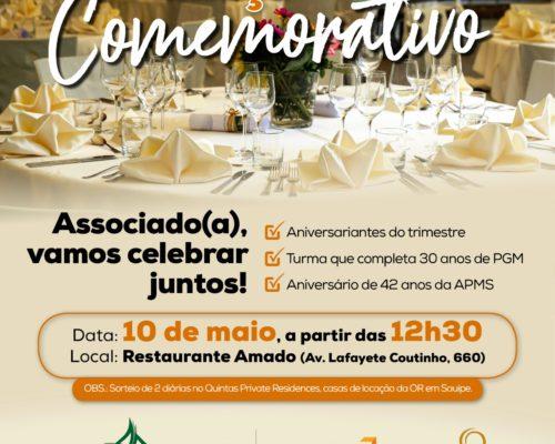 APMS realizará almoço comemorativo no dia 10 de maio