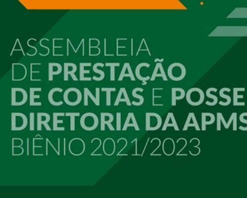 Prestação de contas e posse de nova diretoria da APMS ocorrerão no dia 16/09